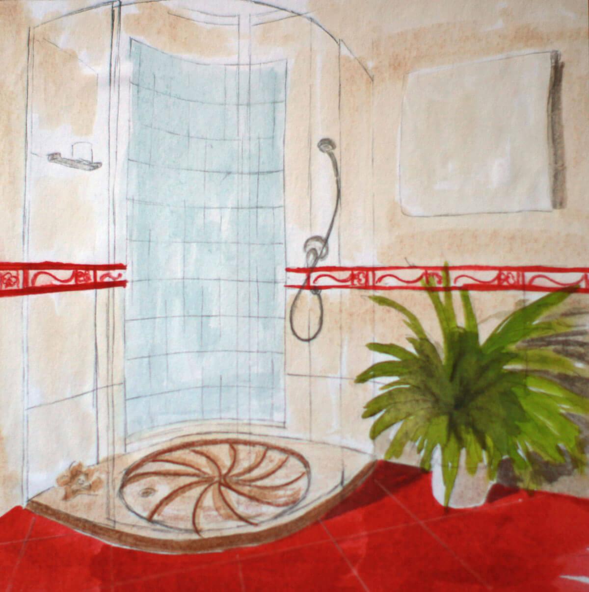 Íves zuhany
